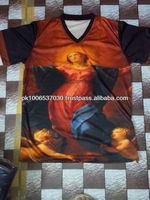 All Over Sublimation V Neck T-shirts, 2014 New Design Fashion & Popular, 3D T-shirt full printed t shirt customized,