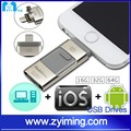 Zyiming Wholesale price Customized logo free sample 8 16 32 64 128GB USB Flash Drive pen drive 3in1 U disk