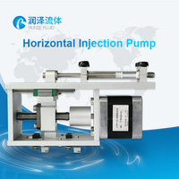 DC 24V electric motor high precision industrial microfluidic horizontal chemical injection syringe pump