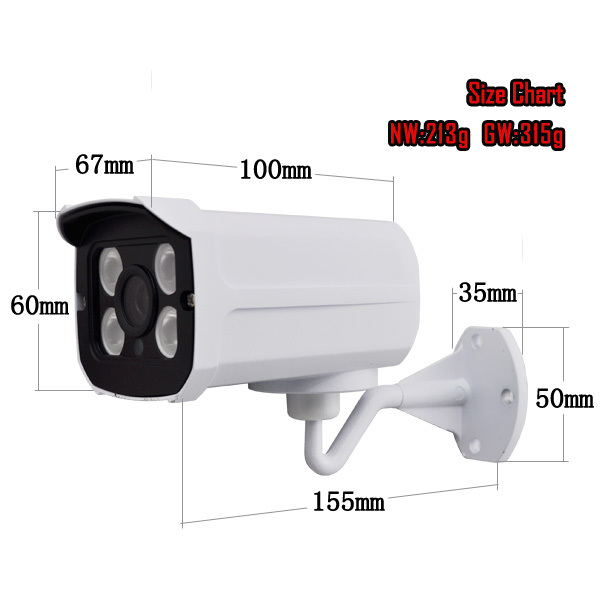 4.0Megapixel Metal Housing Procting CCTV HD AHD SDI CCTV Digital Cameras Made In China