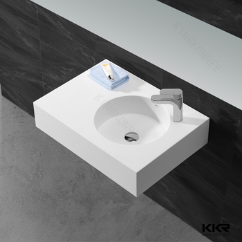 factory supply faux stone solid surface washbasin for hotel project