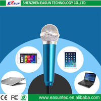 With 3.5 mm cable no charger mini microphone,mini karaoke microphone for smartphone