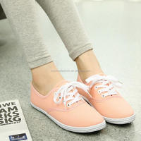 Monroo new style breathable fashionable ladies canvas shoes