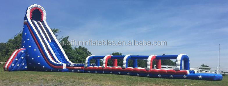 commercial giant inflatable slide with water pool for adult, cheap inflatable slip and slide for sale