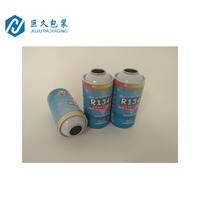 Empty Aerosol Cans Tinplate Cans For r134a Refrigerant Gas Metal Packing Materials