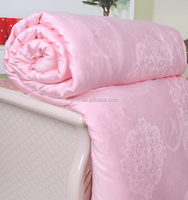 Jacquard Modal Fabric Comfortable Pink Mulberry Silk Quilt