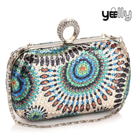 2016 New Arrival Bling Lady Party Clutches Latest Evening Bag