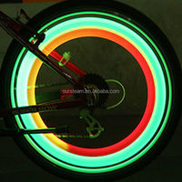 Bike Bicycle Cycling Wheel Spoke Tire Wire Tyre LED Light Lamp Various Colours