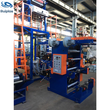 Taiwan type super high speed HDPE film blowing flexo printing connect line machine