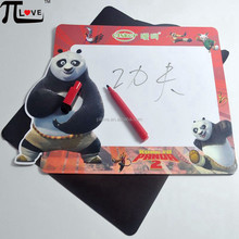 kungfu Panda design fridge magnet whiteboard with red mark pen