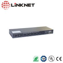 19 inch rack mount switched PDU remote control from IP power distribution unit