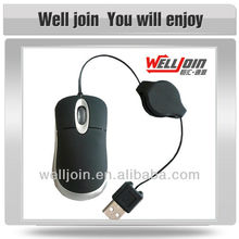 Advertising Mini Mouse, Thoughtful Travelling Computer Mouse with Retractable Cable