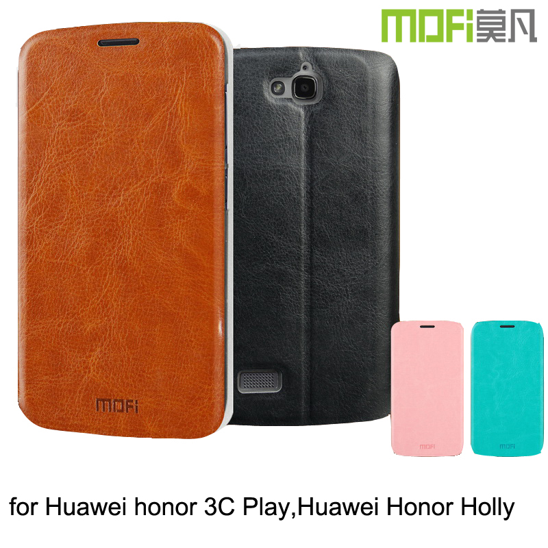 MOFi Case Celular PU Leather Flip Housing for Huawei Honor 3C h30-<strong>u10</strong>, <strong>Mobile</strong> Phone Coque Back Cover for Huawei Honor Holly