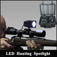 Lightweight waterproof snap-on 35-100w HID Luminous Rifle scope mount hunting searchlight equipment
