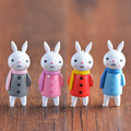 FACTORY direct making Colors Rabbits Girls 5cm PVC Cute Miniature Anime Action Figure Toys for Home
