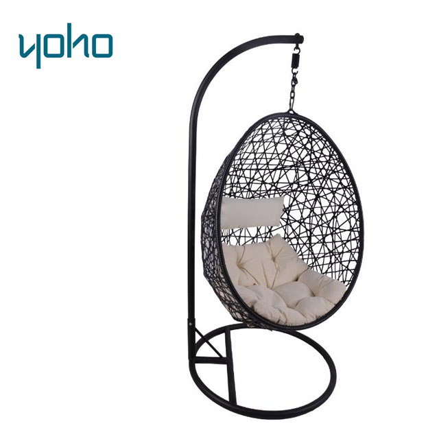 Outdoor furniture garden patio rattan bracket hanging swing egg chair