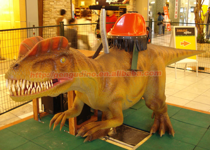 Amusement park dinosaur children rides with coin operated game