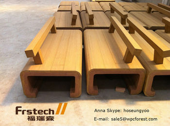 Wpc Plank Bench Solid Wood Garden Composite Deck Construction Material