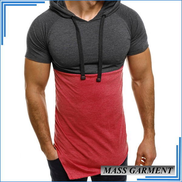 Wholesale Mens Two Color Tone Asymmetric Unbranded Blank Quality T Shirts Mexico