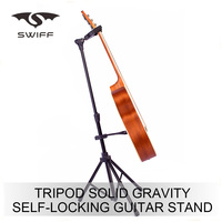 High quality tripod foldable china factory Self-locking Guitar stand