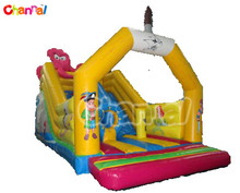 elephant inflatable slide. industrial slip and slide