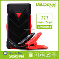 HOT 12V battery booster 12000mAh MINI car jump starter power bank car battery charger emergency tool