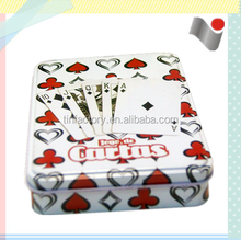 FLGB certification manufacturer small metal playing cards tin box