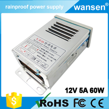 OEM ac to dc converter 12v waterproof switch 12v rainproof power supply 12v 5a for cctv camera
