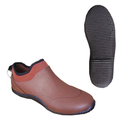 FANTASTIC BROWN ANKLE WATERPROOF RUBBER RAIN BOOT