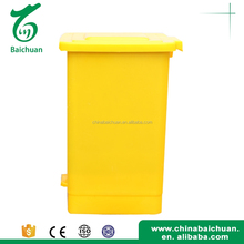 garbage bin , Plastic movable garbage can with wheels in blue