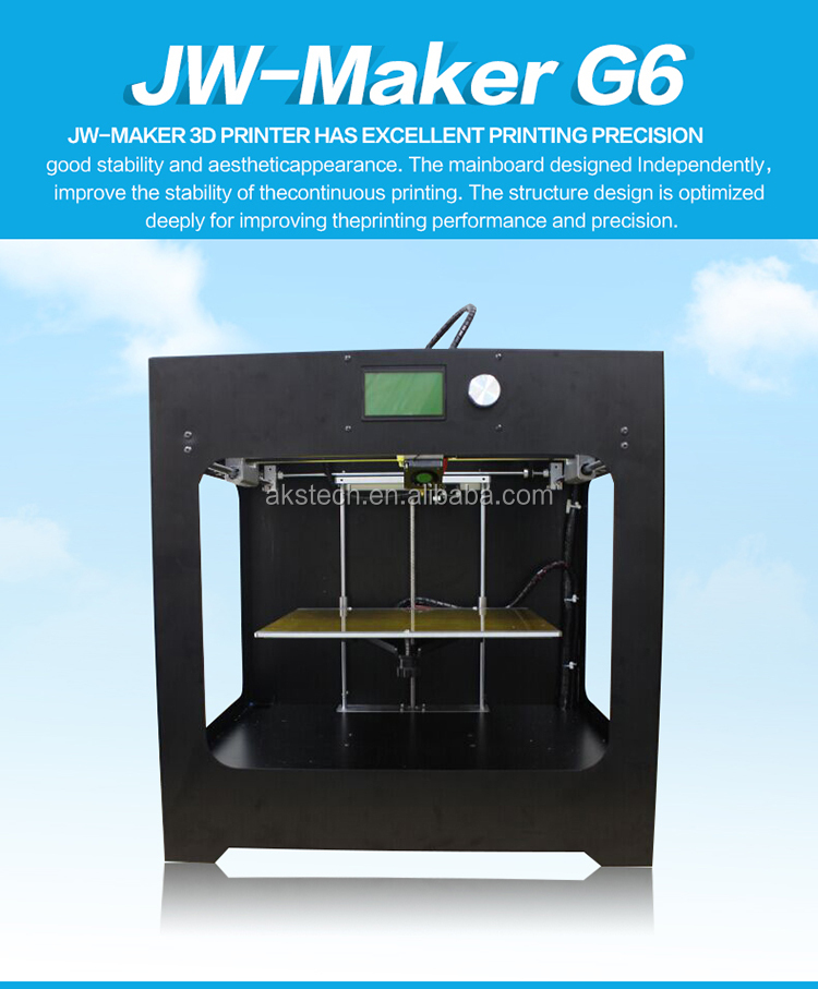 High Quality and Most Practical JW-Maker G6 3D Printer Build Size 300mm*250mm*250mm Digital Printers