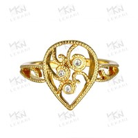 Brass Main Material Love 18kgp Gold Plated Jewelry Ring KZCR114 Bridal Wedding Rings Jewelry