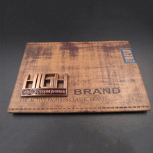 Good Quality Leather Patch Logo, Custom Metal Embossed Garment Leather Label