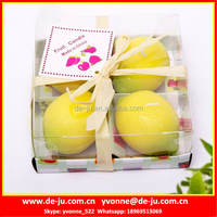 Lemon In PVC Box Night Decoration Fruit Shaped Candle Wax Price