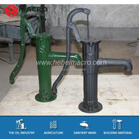 Green Painted Cast Iron Deep Water Well Hand Pumps