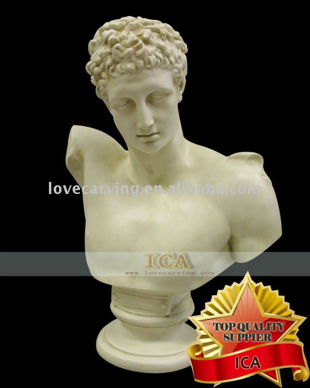 Natural marble hand carved custom marble bust