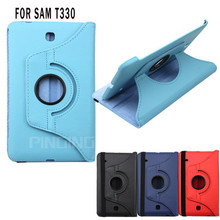 Lychee texture pu leather rotating 360 degree flip cover tablet case for Samsung Galaxy Tab 4 8.0 T330
