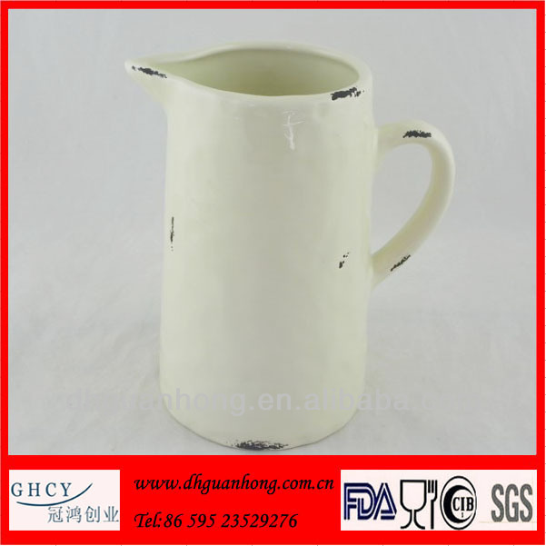 Vintage new designed ceramic water pitcher wholesale