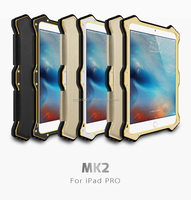LOVE MEI MK2 Powerful Metal Aluminium+Gorilla Glass +LEATHER FLIP COVER Hybrid Case for IPAD MINI4 LOVE MEI Case ANTI-SHOCK