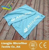 [LJ] customized 80 polyester 20 polyamide microfiber towel, hiking towel suede towel low price
