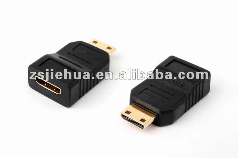 24K Gold plated Mini HDMI Male Type C to Mini-HDMI Type C Female Adapter