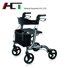 Folding Disabled Rollator Manufacturers Mini Trolley Foldable Walking Aid Physical Therapy Walker Rollator Shopping Cart