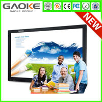 "Gaoke 55"" 65"" 70""84"" 98"" HD Digital Signage Display Infrared Interactive Multi Touch lcd Touch Screen"