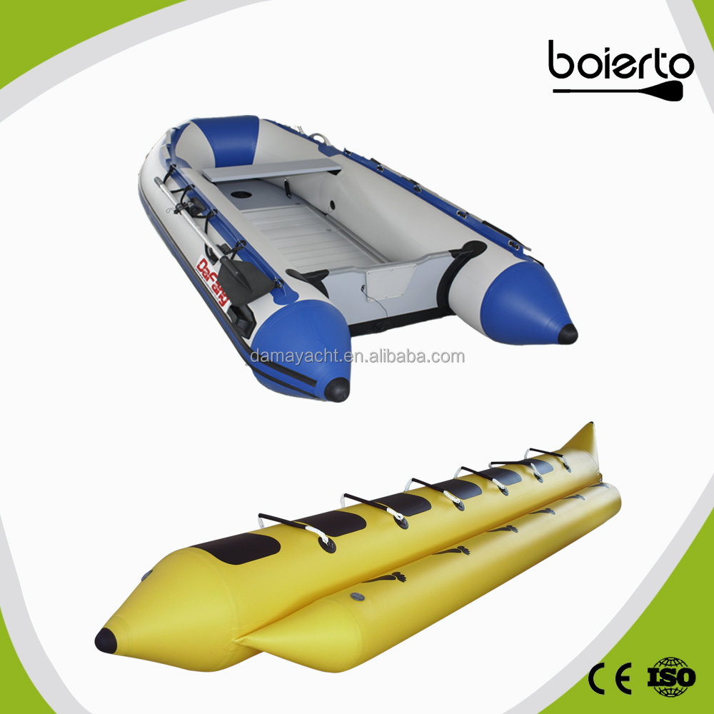 pvc hull material luxury dinghy electric motor
