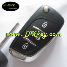 Topbest DS style 3 buttons car key replacement for peugeot car key remote key original peugeot