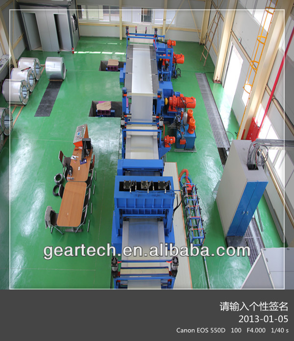 Steel Coil or galvanized steel plate or Zinc-Al plate and cold rolled plate color Coating painting machine production Line