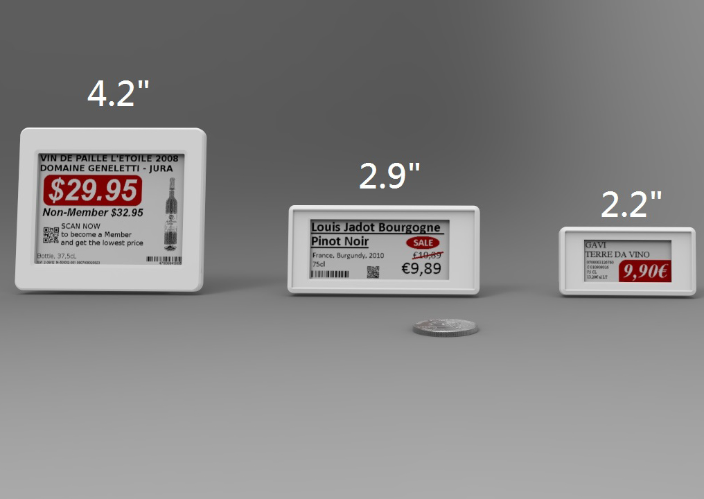 New Era Smart Supermarket Solution E-ink Display Price Tag Electronic Shelf Label