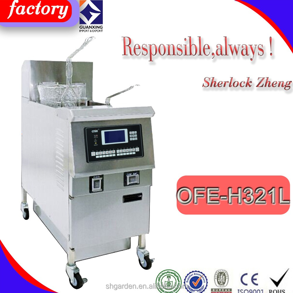 Alibaba One Well Electric Open Fryer/Hot Sale Kitchen Equipment Continuous Donut/Potato Prices open fryer