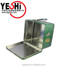Customize Chinese Moon cake Case Metal Gift Packing Tin Box with Handle