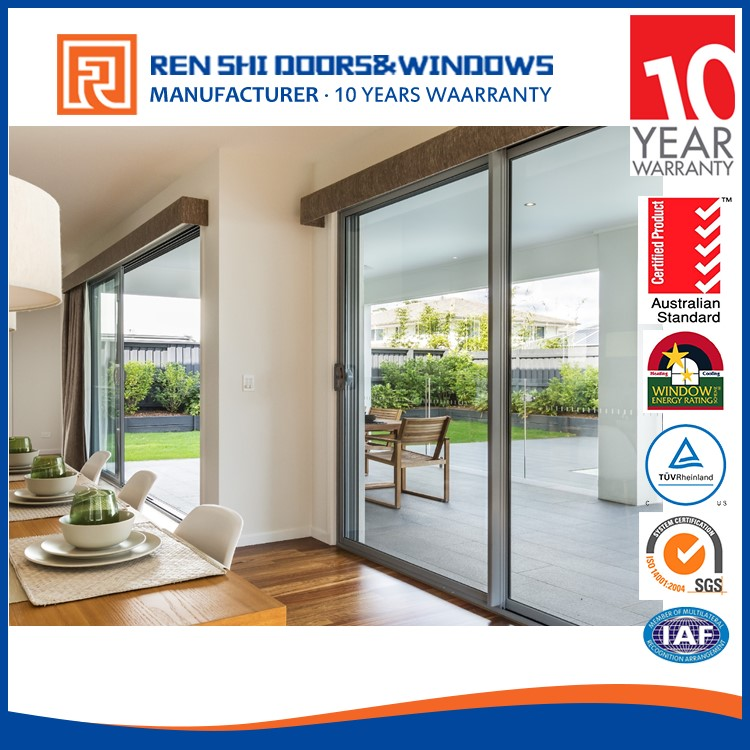 New zealand waterproof sliding all glass exterior doors